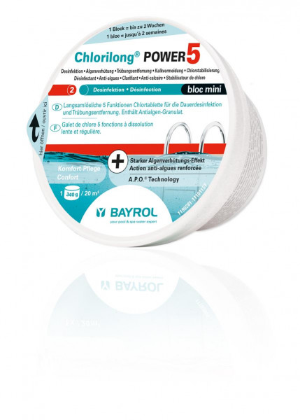 Bayrol Chlorilong® POWER 5 Bloc Mini 0,34 kg