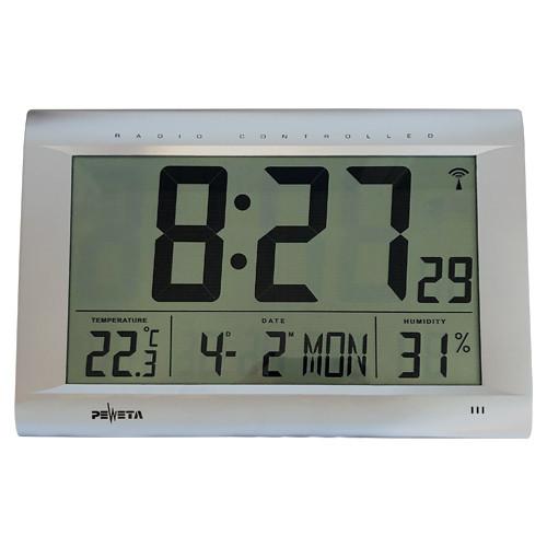 Funk-Digitalwanduhr mit großem LCD-Display