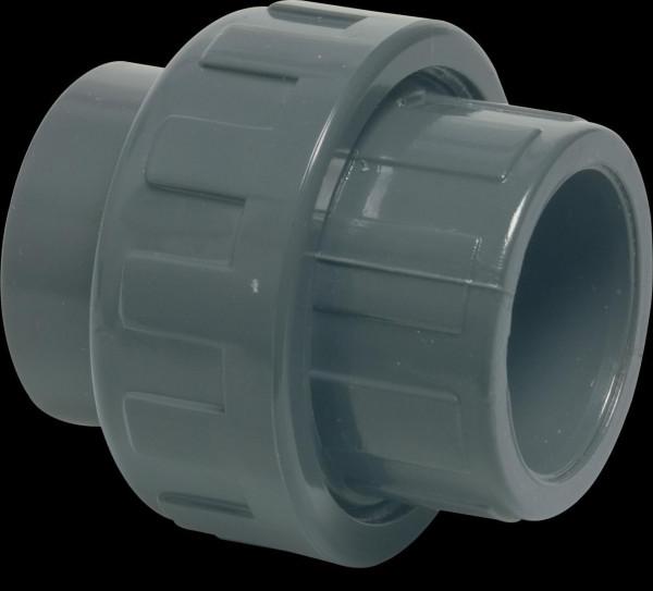 PVC Verschraubung grau 63 mm Klebemuffe