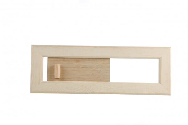 Lüftungsschieber aus Holz
