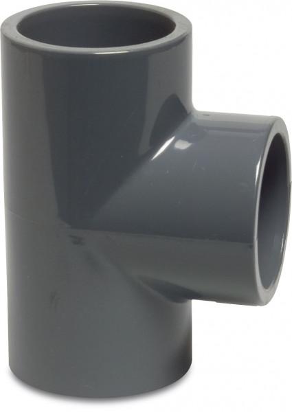 PVC T-Stück 90° 40 mm, Klebemuffe