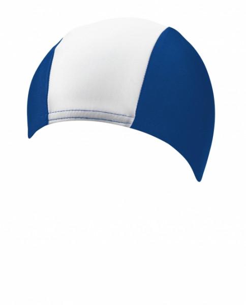 BECO Textil-Schwimmhaube Herren blau/weiß