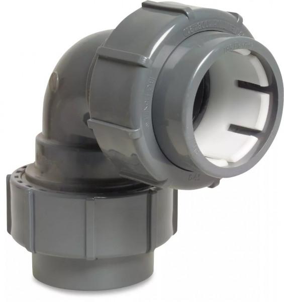 FlexFit Winkel 90° PVC-U 500 mm Klemm
