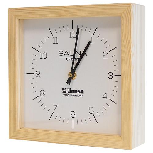 Sauna-Uhr quadratisch