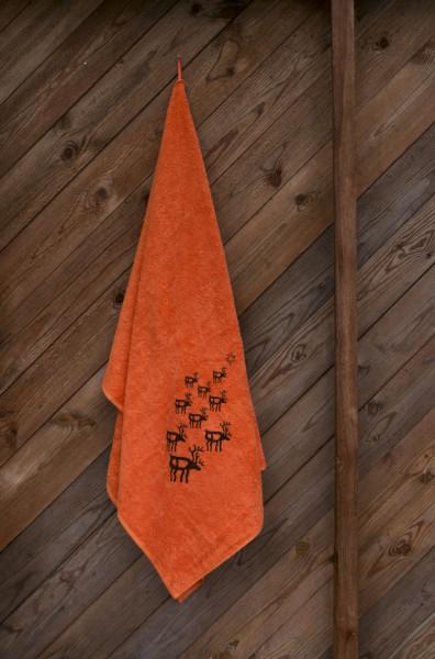Saunatuch Rentier & Sonne 100x150 cm