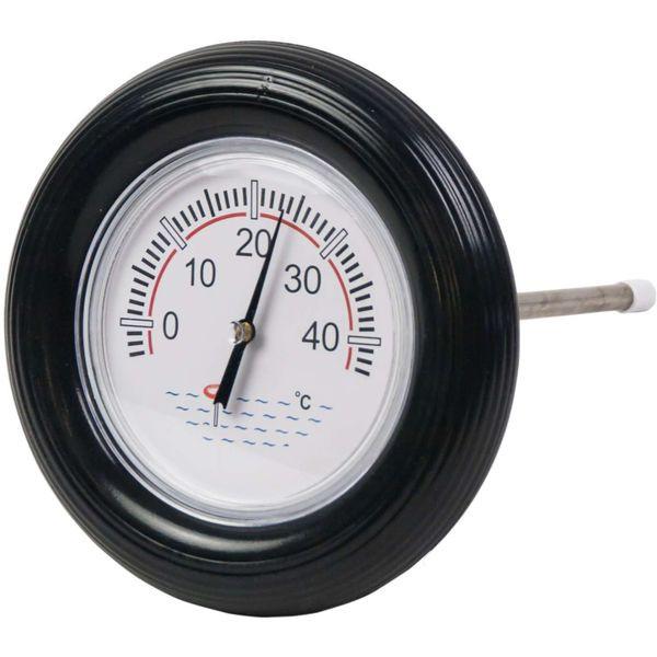 Thermometer mit Schwimmring schwarz