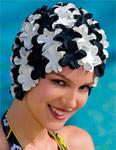 Fashy Gummi Blütenhaube schwarz/weiß - Art.-Nr. 3191-22