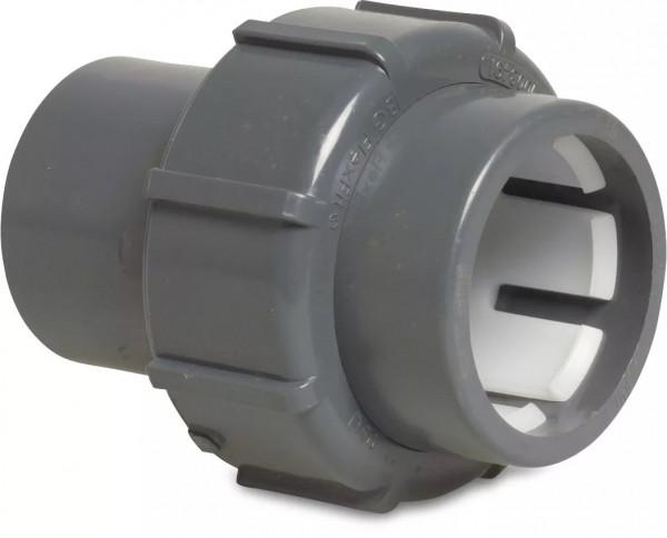 FlexFit Verschraubung PVC-U 50 mm Klemm x Klebemuffe