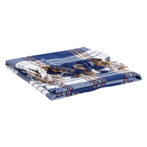 Hamamtuch blau-weiß kariert 80 x170 cm