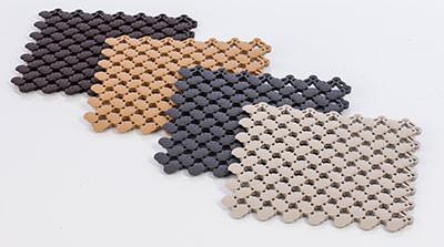 Elsässer Bodenmatte 20x20 cm beige