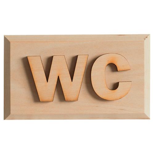"""Holzschild """"WC"""" Erle"""