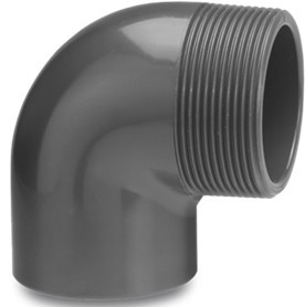 "PVC Winkel 90° 50 mm x 2"""
