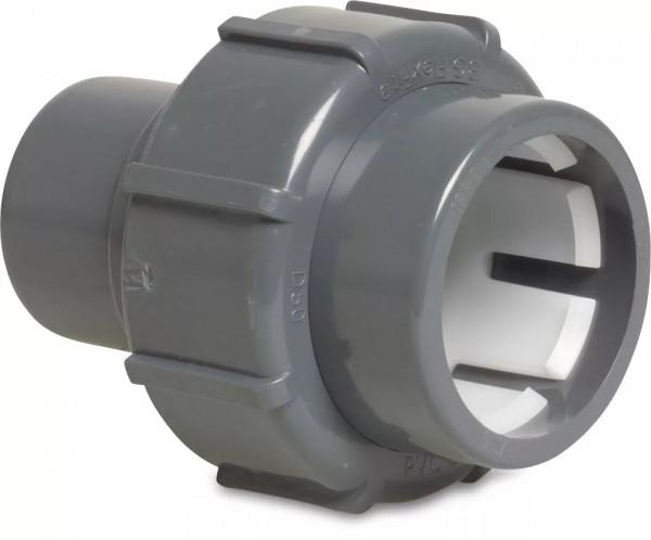 FlexFit Verschraubung PVC-U 50 mm Klemm x Klebestutzen