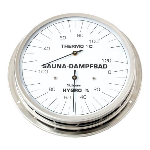 Finnsa-Dampfbadklimamesser, mit Flansch, 130 mm
