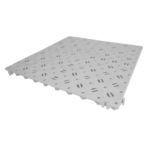 """Kunststoff-Bodenrost """"Stabil"""" 50x50cm, lichtgrau"""