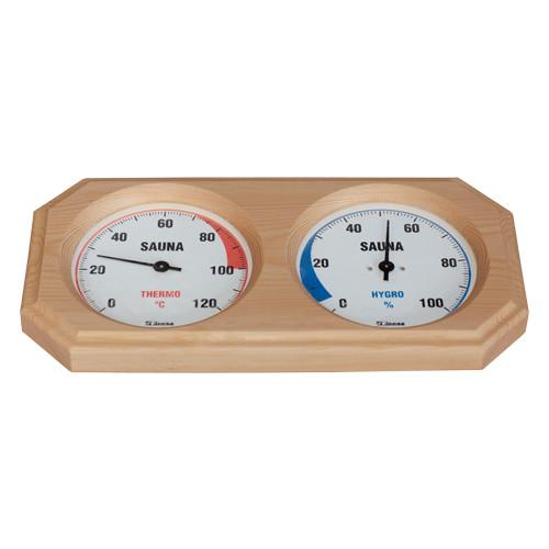 Finnsa Holz-Sauna-Hygrothermometer, 8-Eck