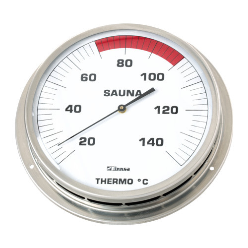 Finnsa Sauna-Thermometer Klassik mit Flansch